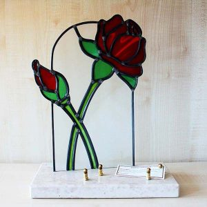 plaque-faite-main-rose